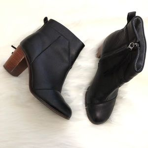 Toms Black Ankle Boots size 6.5